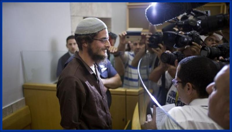 Meir Ettinger, appears in court in Upper Nazare