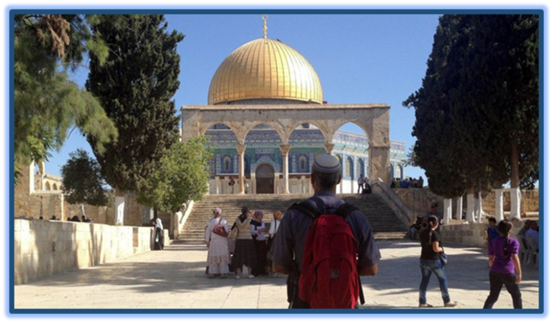 Jewish visitor Temple Mount Dome Ro