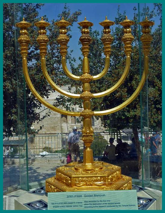Model of Golden Menorah