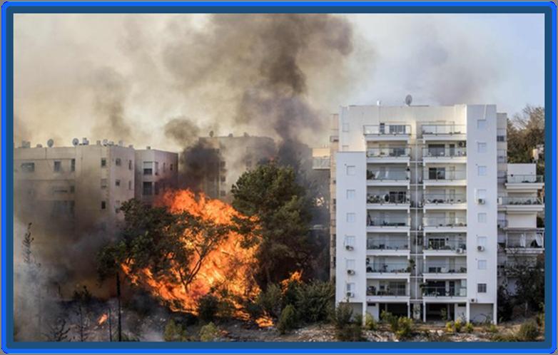 Haifa ablaze in Israel