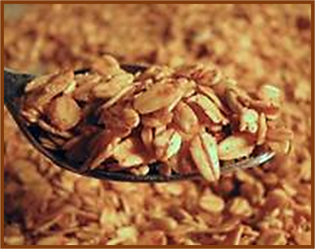 Whole Grain Toasted Cereal with Ribbing on the Whole Grains