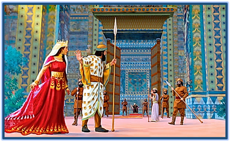Queen Esther in the Persian Palace of King Ahashverosh