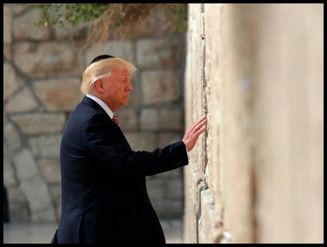 President Donald Trump at the Kotel in Jerusalem