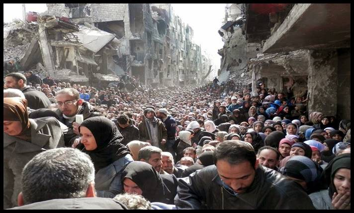 Yarmouk a Palestinian Refugee Camp in Damascus