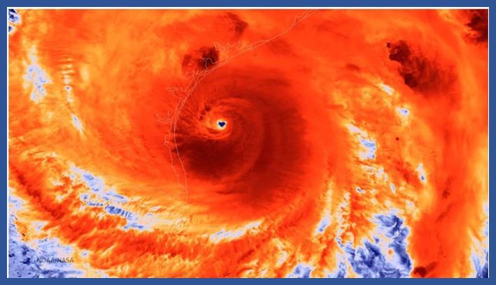Eye of Hurricane Harvey