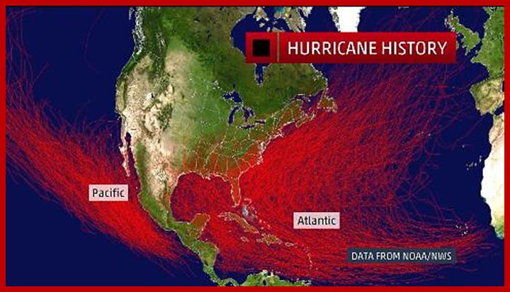 Tracks of all Hurricane