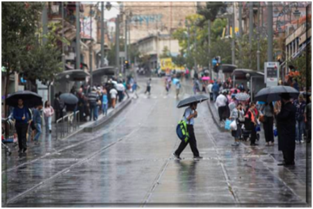 Rain in Jerusalem over Succot