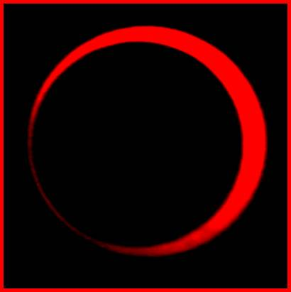 Solar Eclipse from the Visual View of the Angelic Hosts near the Moon