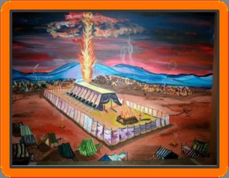 Nation of Israel worshipping at Shiloh Tabernac