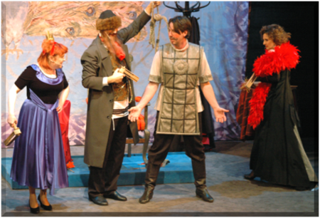 Purim spiel performance in The Jewish Theatre of Warsaw, Poland