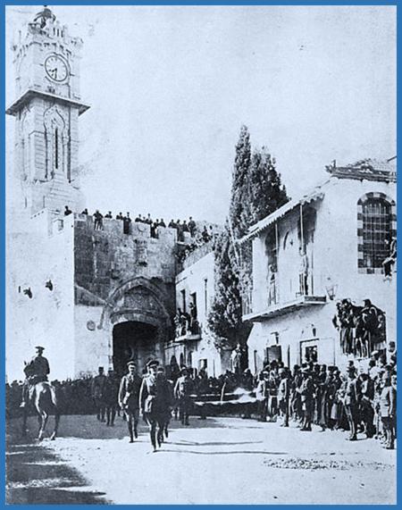 General Allenby enters Jerusalem by foot in 1917