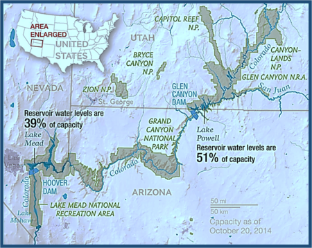 Map of Colorado River