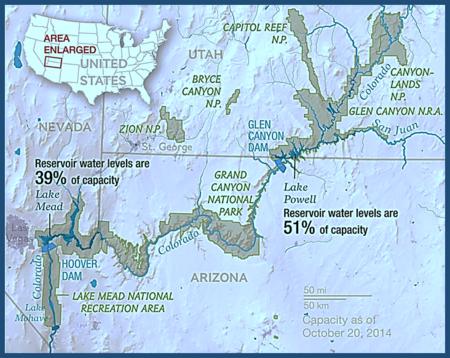 Map of Colorado River