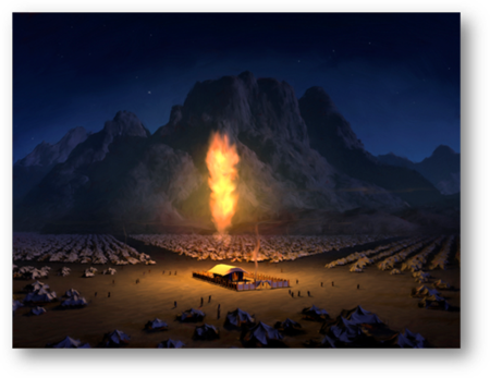 Metatron as the Pillar of Light by Night