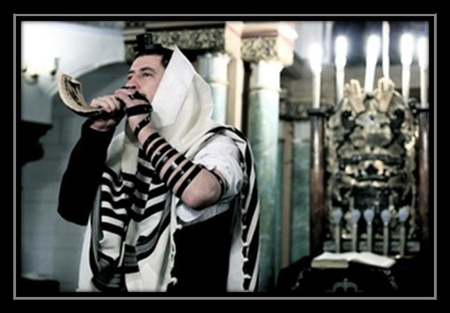 Shofar at Rosh Hashanah in the Choral Synagogue in Vilnius
