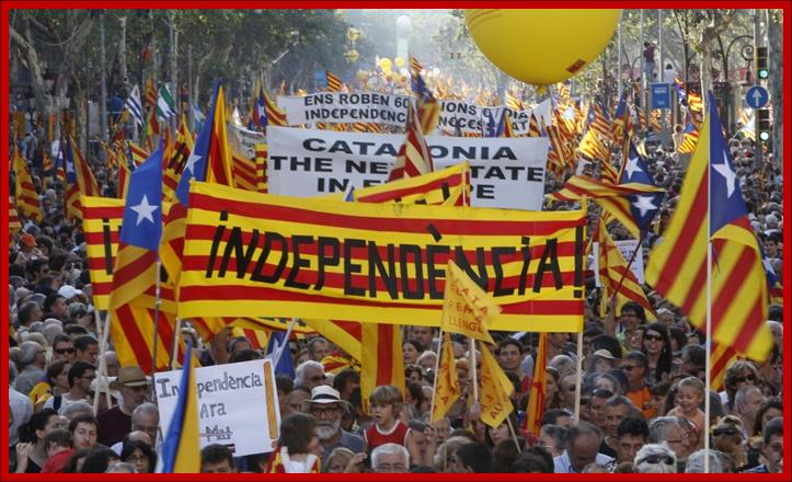 Spanish Catalonia Cessation Movement Victory March