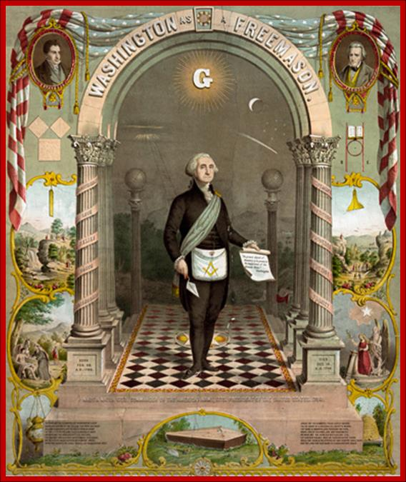 Masonic American Revolution with Freemason President George Washington