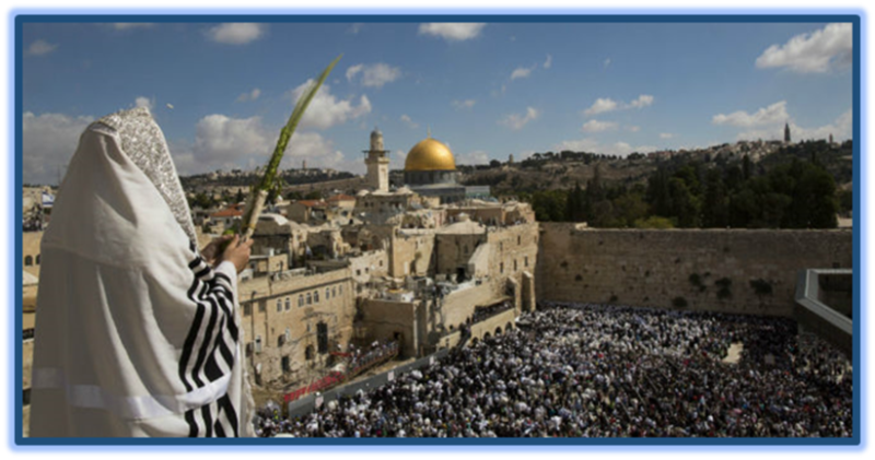 Priestly Blessing at the Western Wall in Jerusalem