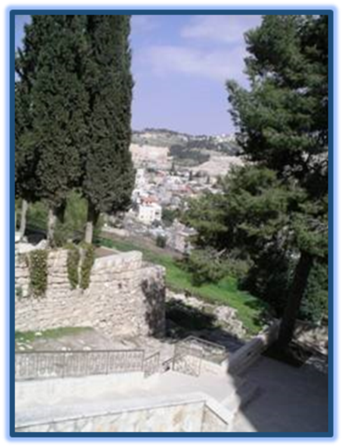 Ancient First Century Maccabean Pathway from the House of Caiaphas to the Kidron Valley