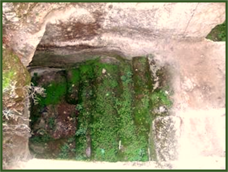 Looking down on Mikvah Bath of the High Priests at the Palace of Ananias and Caiphas