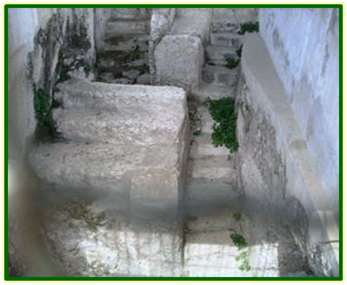 Stone Carved Steps Leading into the Nazarene Mikvahs