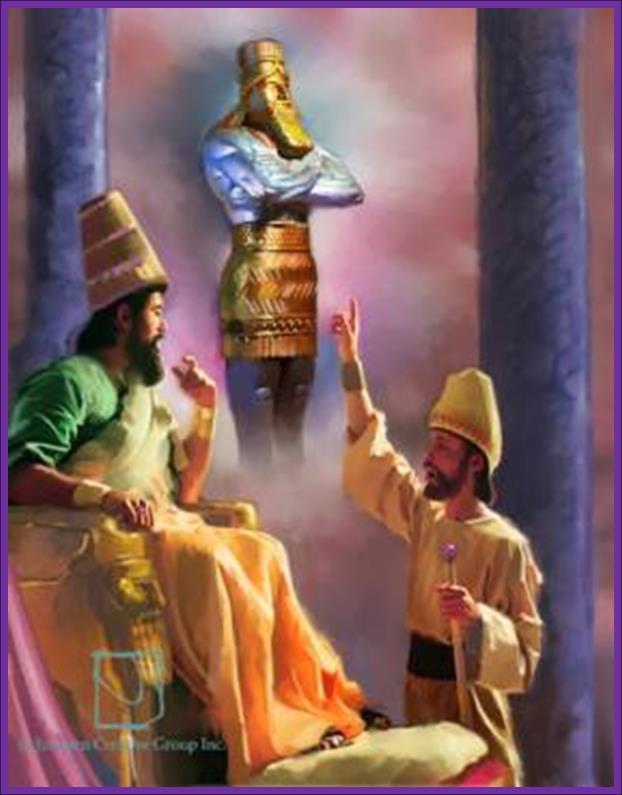 The Prophet Daniel speaking King Nebuchadnezzar concerning his Dream