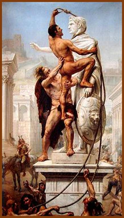 The Sack of Rome by Alaric and Visigoths