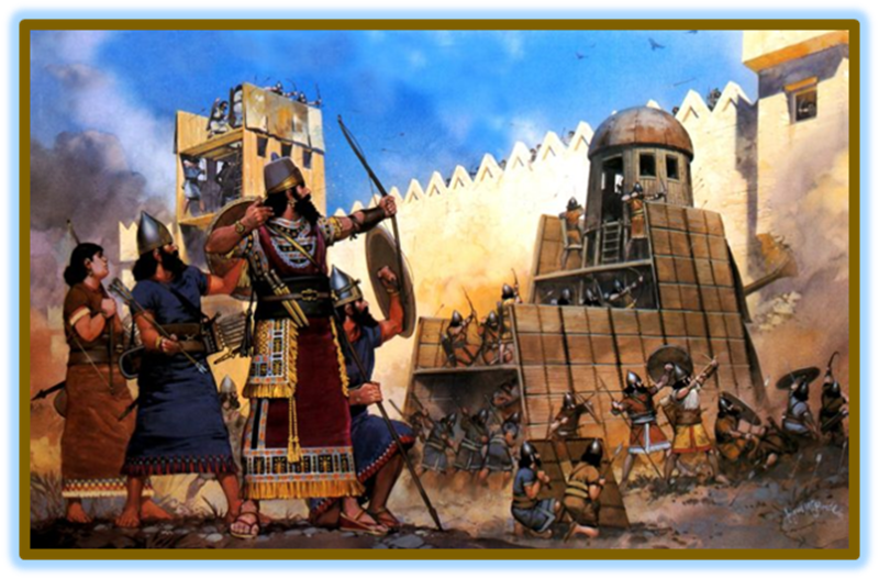 King Hezekiah and Jerusalem endured a siege led by Assyrian king Sennacherib